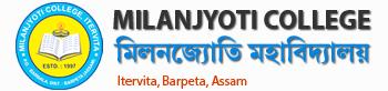 Milanjyoti College, Itervita, Barpeta Logo